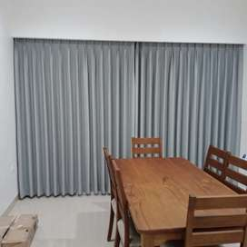 Dekorasi minimalis gorden curtain vitrase vertikal blinds gorden