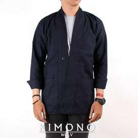 Kimono navy wolv