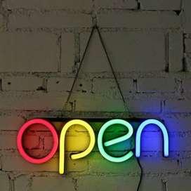 jual neon flek open 4 warna