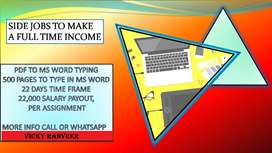 part time job from home bases data entry work