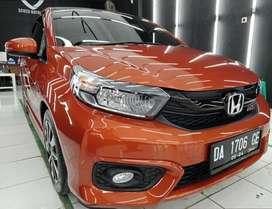 Dijual santai Honda Brio RS orange manual standart full paper