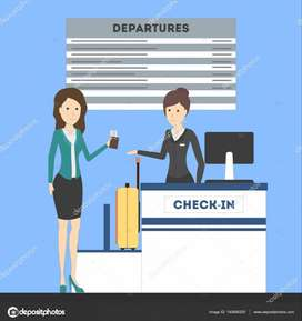 Counter staff for Airport primises