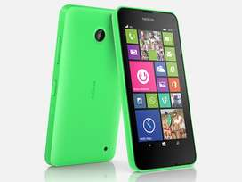 Nokia Lumia 630, 2016 model, Dual SIM, Green colour,good condition.