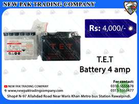 DRY BATTERY FOR ATV BIKE