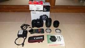 Canon EOS 700D kit + Lensa Fix EF 50mm f/1.8 II banyak bonus