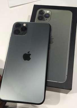 Apple iphone 11 pro Max 64gb midnight green Mint cndition genuine phn