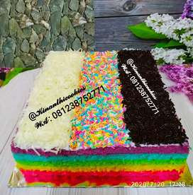Kue tart rainbow 3 topping