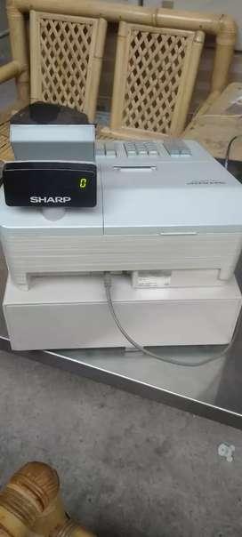 Mesin kasir cast drawer merk sarp XE A207W