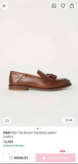 H and M Tasselled Leather Loafers