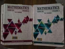 RD SHARMA MATHEMATICS class 12 vol 1 and vol 2