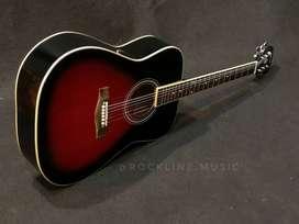 Gitar Akustik gibson glossy merah