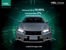 HBL Auto Loan Finacing on cheapest markup rate 10.99%
