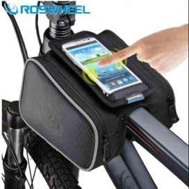Tas Sepeda RosWheel  untuk frame sepeda  kanan kiri/tempat HP