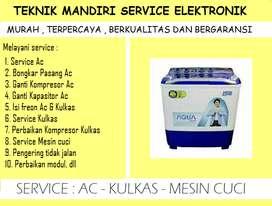 Tempat service Ac, Showcase, Kulkas, Mesin cuci - Bongkar pasang Ac