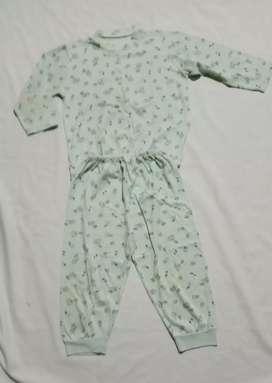 Setelan piyama Anak  Unisex 3 tahun Biru muda