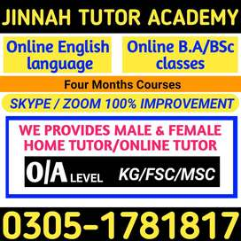Female expert teacher required /Home tutor/online tution MATH and urdu