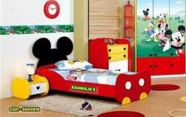 Excellent Quality kids single Bed with 1 side table