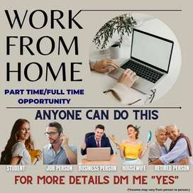 Work from home for extra income, part-time/ full-time