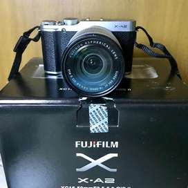 Kamera Mirrorless Fujifilm X-A2 Lensa XC 16-50mm F3.5-5.6 OIS   Hitam
