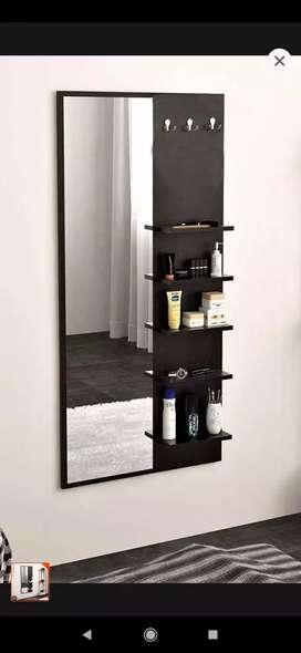 wooden standard wall mounted dressing table