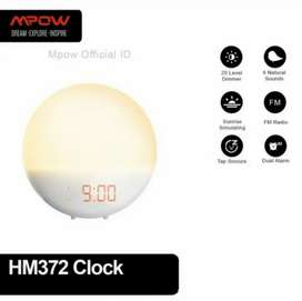 Wake up light alarm clock radio