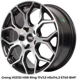 velg racing keren r17 for HRV innova rush black polish
