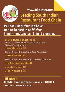 Manager, Chef, Kitchen Assistant, cleaner, housekeeping