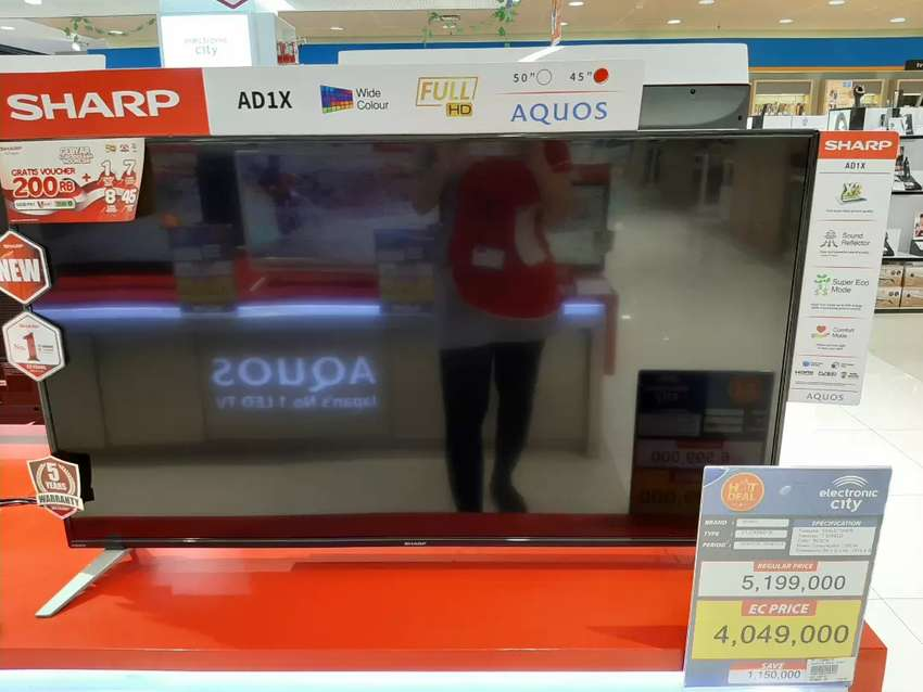 "TV Sharp 45"" FHD 2T-C45AD1X Cicil Tanpa Cc 0"