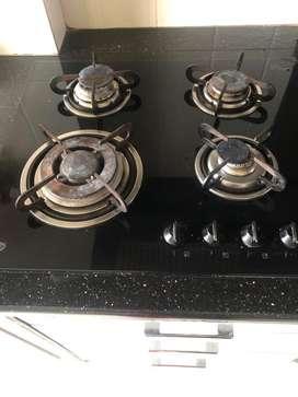 Glen 4 burner in built gas stove