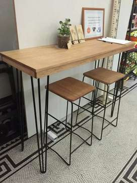 Meja makan meja cafe meja bar kursi bar meja kerja meja tamu