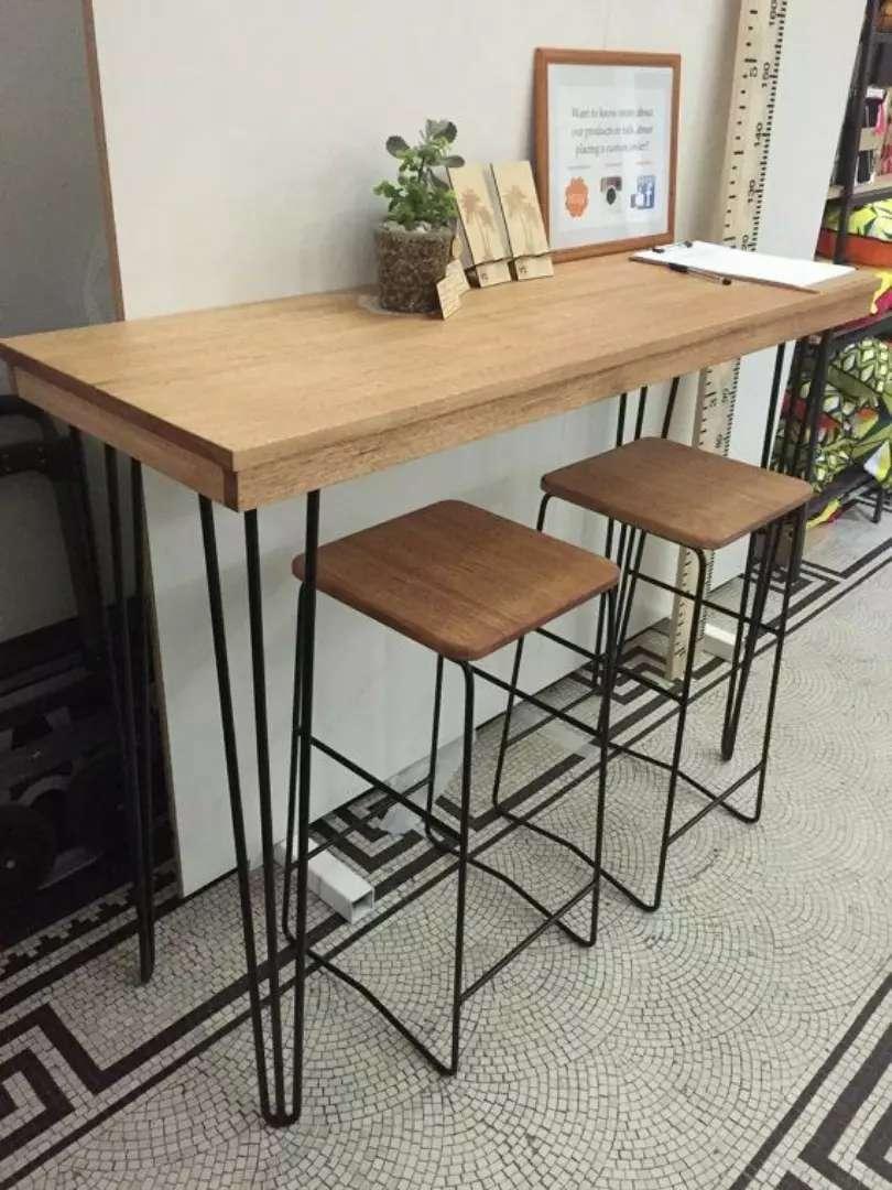 Meja makan meja cafe meja bar kursi bar meja kerja meja tamu 0