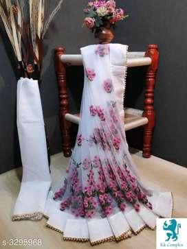 Beautiful heavy net saree