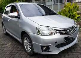 Toyota Etios 1.2 G 2014 Manual M/T Warna Silver KM 44rb Plat L