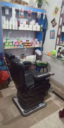 Fical bed one saloon chair fical almari one title bord