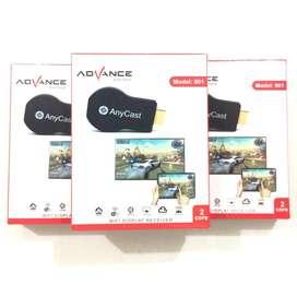 B A R U  Advance 001 AnyCast HDMI Dongle Wifi untuk HP/iPhone ke LCDTV