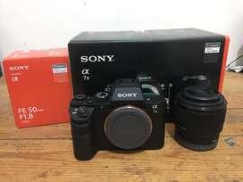 Sony A7ii + Lensa 50mm