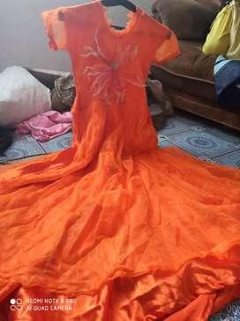Orange firog long  10 y 14 yar k liy