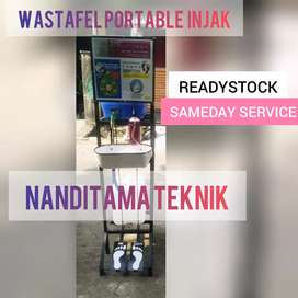 Jual wastafel portabel wastafel portable (injak, tnpa sentuh tangan)
