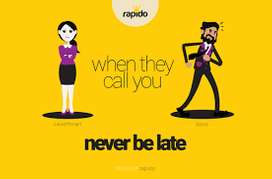 rapido hiring for taxi riders part time and full time