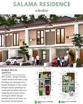 Rumah syariah cibubur model minimalis 2 lantai