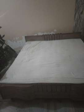Double bed with double cotton mattress