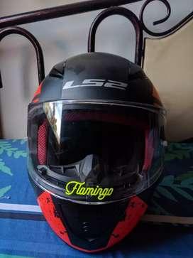 Helm LS2 Rapid FF353 Deadbolt Matt Black Orange