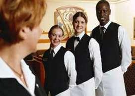 I need waiter in hotel experience waiter
