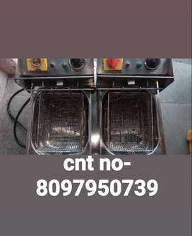 Electric fryer both electric and gas cylinder.