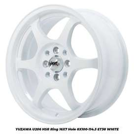 NEW YUZAWA U206 HSR R16X7 H8X100-114,3 ET38 WHITE