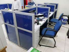 Cubicle Workstation Meja Kubikel Kantor Finishing Kain