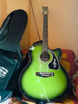Guitar with light green color