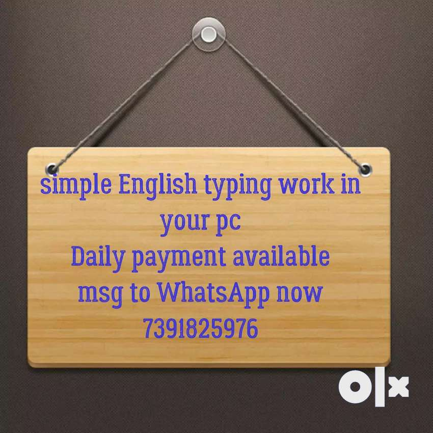 Simple typing work with daily payment 0