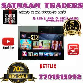 """52"""" INCHES Android Led Tv _ Very SLIM 4K UHD LED T.v."""
