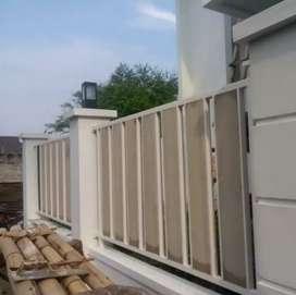 pagar rangka galvanis motif kayu grc,woodplank,kanopi,balkon,teralis,,